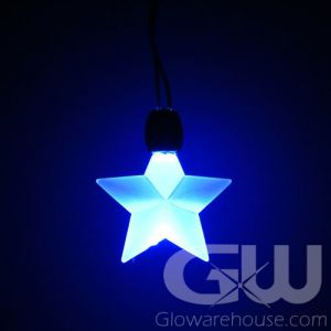Lighted LED Star Shape Glow Pendant Necklace