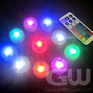 Remote controlled LED tea lights