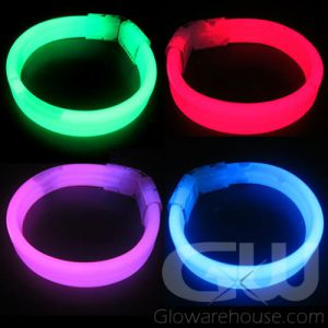 8 Inch Glow Wristband Bracelets - Assorted Color 80 Piece Pack