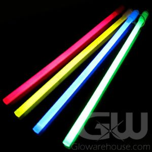 Pack of 20 Assorted Color 12 Inch Glow Sticks
