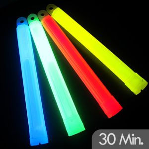 High Intensity 6 Inch Glow Sticks with 30 Minute Glow