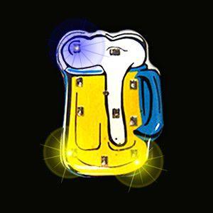 Beer Mug Flashing Pin Body Lights