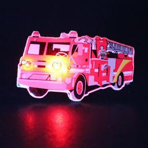 Fire Truck Light Up Lapel Pin Body Light