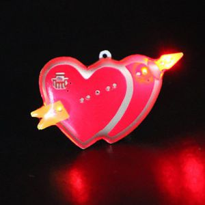 Light Up Valentines Heart Flashing Pin Body Lights