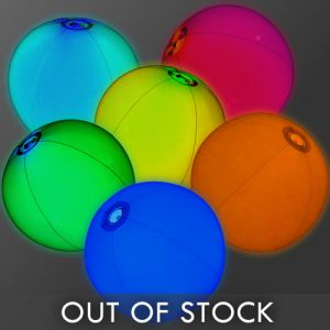 Glowing Beach Balls Assorted Color Mix