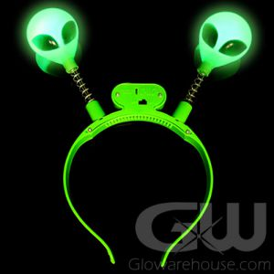 Glow Alien Head Boppers