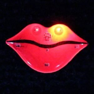 Glowing Lips Flashing PIn