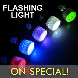 Flashing LED Mini Clip Lights Assorted Color Mix