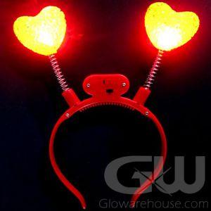 Glow Heart Head Boppers