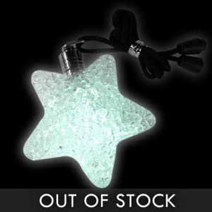 White Star Glowing Pendant Necklaces