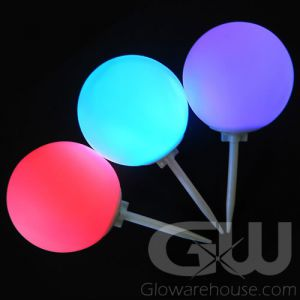 Glowing LED Marker Balls with Ground Spike