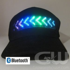 Glowing Smartphone LED Hat