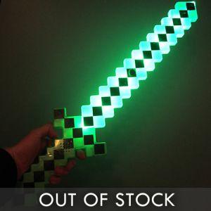 LED Light Up 8 Bit Pixel Sword
