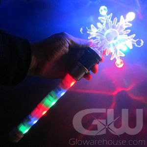 LED Snowflake Spinner Wand