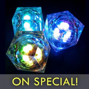 Light Up LED Cube Centerpiece Light Special Discount