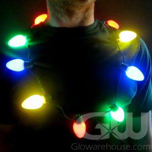 LED Xmas Light Necklace
