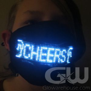 Light Up Message Face Mask