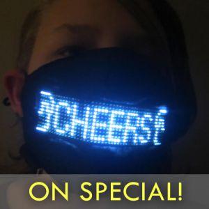 Light Up Face Mask Scrolling Message Smartphone