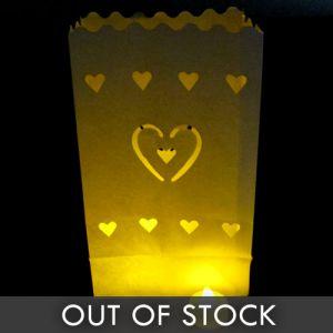Luminary Bags Hearts