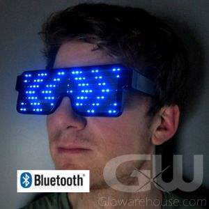 Glowing LED Glasses with Bluetooth Smartphone Control