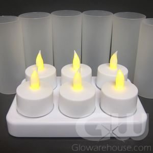 Flameless LED Rechargeable Tea Light Candles