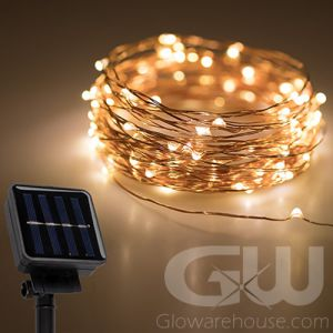 Glowing LED Solar Powered String Lights