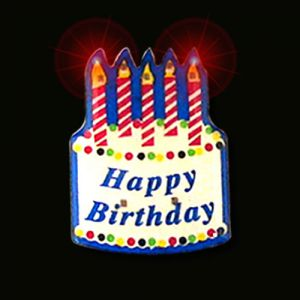 Birthday Flashing Pins Body Lights Party Favor