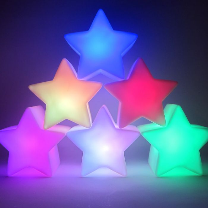 Star Shape Color Changing Led Battery