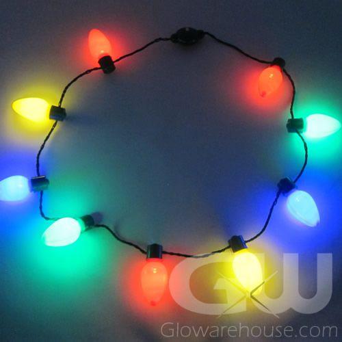 Christmas Light Bulbs.Large Christmas Bulb Light Necklaces