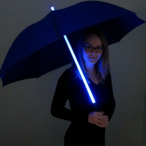 Blue Led Umbrella: Battery Operated Lighted LED Hula-Hoop