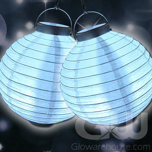8 Inch Paper Lanterns With White Led Lights Glowarehousecom