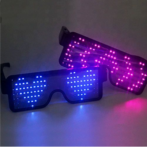 Light Up Glasses with Animated LED Display