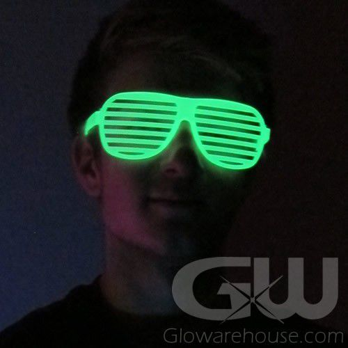 Glow In The Dark Shutter Shades Glowarehouse Com
