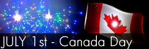 July 1st Canada Day Glow Lights